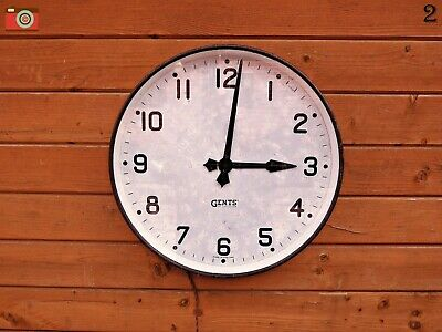 Very Large Early Gents Wall Clock, 19 1/2 Inch Case, Original Electric Movement