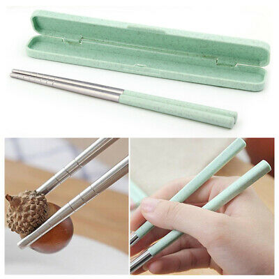 Chinese Eco-Friendly Stainless Steel Chopsticks Food Sticks With Portable Box