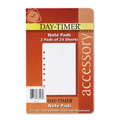 Lined Notes for Looseleaf Planners, 5-1/2 x 8-1/2, 48 Sheets/Pack