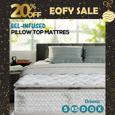 Queen Double King Single Mattress Bed Euro top Firm Pocket Spring Foam New