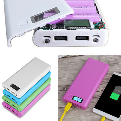 30000mAh Dual USB Portable External Battery Charger Power Bank Case for Phone