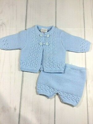 Baby Boys Cable Knitted Set By Dandelion