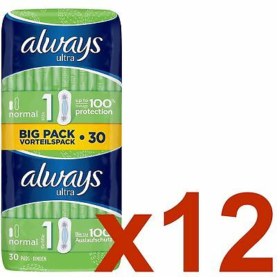 Always Ultra Normal Serviettes Hygiéniques Tampons Taille 1 Women Super