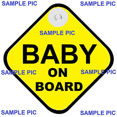 BABY ON BOARD - TRADITIONAL - AUSTRALIAN MADE - Suction Cup Fitted - FREEPOST