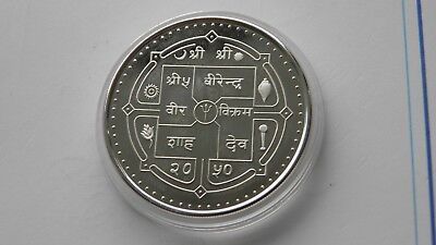 1993 Nepal 500 Rupees Tiger Silver Proof coin