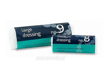 Reliance Medical Dressings No 8 Medium, No 9 Large Sterile - HSE First Aid