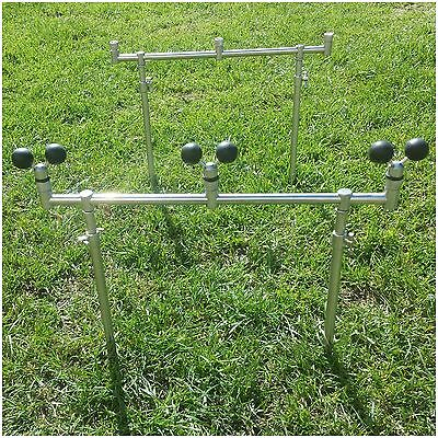 Goal Post Buzz Bar 32-47 Cm Bank Sticks + 3 Ball Rests Carp Fishing Banksticks