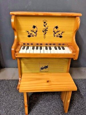 Hering Brazil Wooden Children's Standing Upright Piano with Stool #465