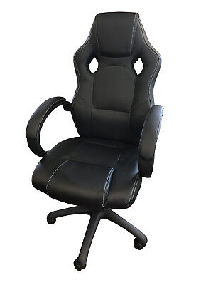 Chaise de bureau gaming ergonomique, style racing, siège gamer, accoudoirs