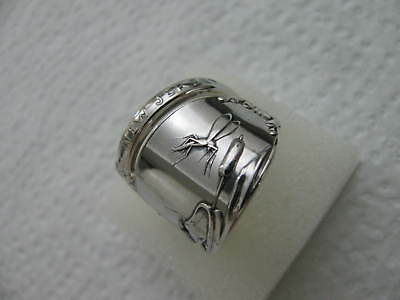 Sterling Silver spoon RING s 8.5 MOSQUITO Jewelry #5672