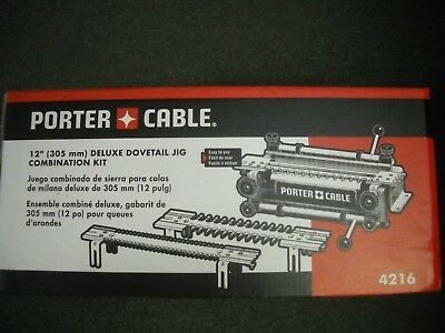 "Porter Cable 4216 12"" Deluxe Dovetail Jig Combination Kit & Templates New"
