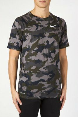 110a8b8b NIKE T-SHIRT SHORT Sleeves Dri-Fit Camo #923524 036 - EUR 30,00 ...
