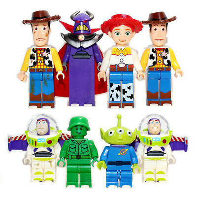 8Pcs Toy Story Mini figure for Lego Woody Buzz Lightyear Building Blocks Toys