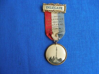 Delegate Badge NJ Division Civil War Veterans Trenton, NJ