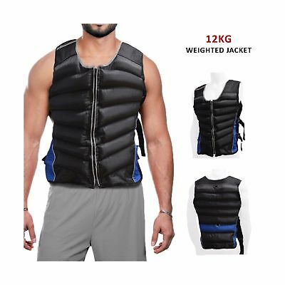 Weighted Vest Strength Training Jacket Gym Fitness Weight Loss 12kg 15kg