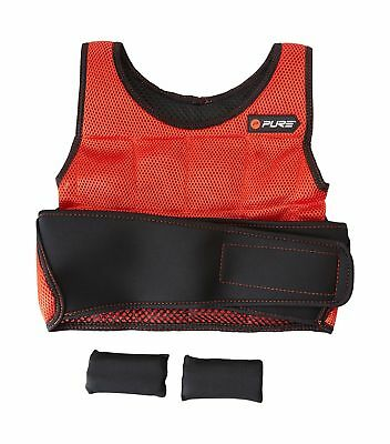 Pure2Improve Unisex Weighted Vest, Red/Black,