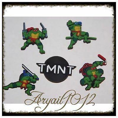 5X TMNT Teenage Mutant Ninja Turtles Shoe Charms Crocs Jibbitz