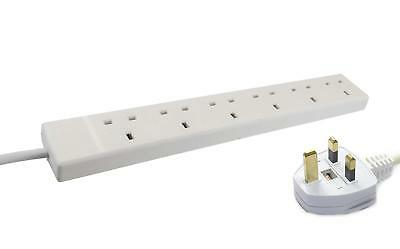 Wickes Master 6 Way Extension Lead in White Finish ( 13A Fuse