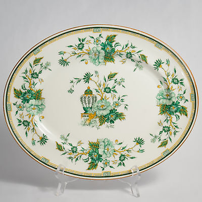 """Crown Staffordshire KOWLOON PLATTER Meat Plate 13.75"""""""