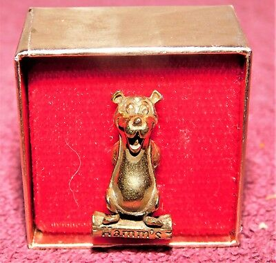1960s HAMM'S Beer BEAR ON LOG Tie Pin (MINT IN BOX!) Must See!!! WOW!!!