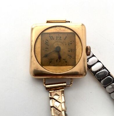 West End Watch Co. Rare Swiss Made Ladies Watch 18k Solid Gold Vintage Antique