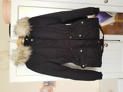 Black H&M winter jacket size 10 perfect condition