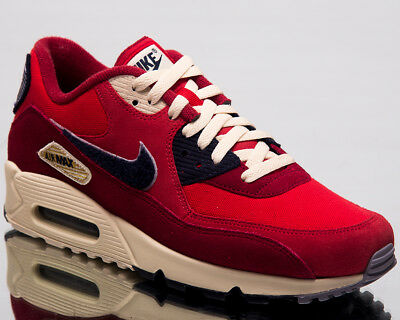 17fd7f9df29b5 NIKE AIR MAX 90 Premium SE Men Lifestyle Shoes University Red 858954-600