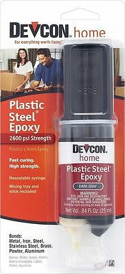 Devcon Home 62345 Plastic Steel Epoxy Syringe Waterproof Glue Adhesive S6