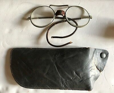 Vintage , DOCKSON Driving Goggles Motorcycle, Safety ,Steampunk, With Case