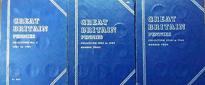 Whitman folder GB pennies collection, 71 coin 1881-1901, 1902-1929, 1930-1966 #7