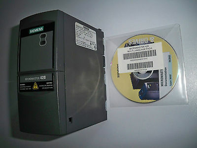 Converter by frequency Siemens Micromaster420. 1.5 kW,380-480 Vac 3ØAC