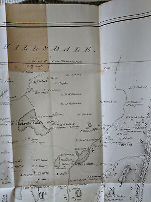 Map of Livingston, Germantown and Clermont in Columbia County NY in 1798