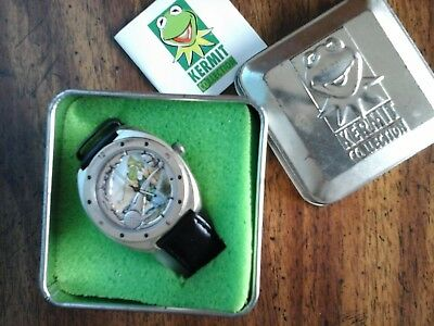 Kermit Collection the frog watch, golfing, boxed, used
