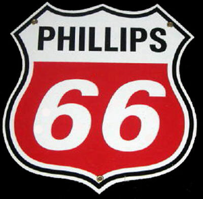 Phillips 66 Gasoline Porcelain Advertising Sign