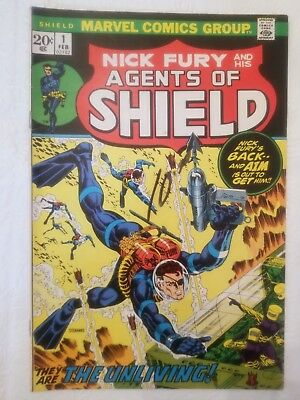 Nick Fury and his Agents of SHIELD #1 (Feb 1973, Marvel), Grade 4.0