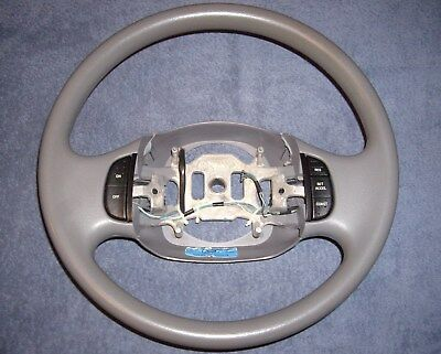 OEM 97-03 FORD F150 EXPEDITION GRAY VINYL STEERING WHEEL w / CRUISE CONTROL