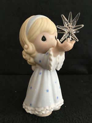 Precious Moments Guide Us To Thy Perfect Light Girl Holding Star Nativity 610017