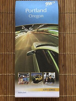 AAA PORTLAND, OREGON OR City Series Travel Vacation ROAD MAP 2017-2019