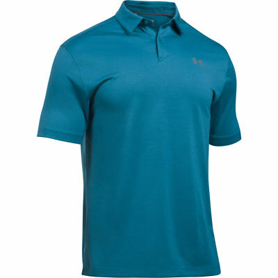 994e1767 Men's Under Armour CoolSwitch Microthread Golf Polo Shirt NEW Blue, MSRP $65