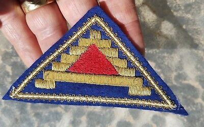 US 7th Army Post-WW2 OCCUPATION GERMAN THEATER MADE HAND EMBROIDERED Felt PATCH