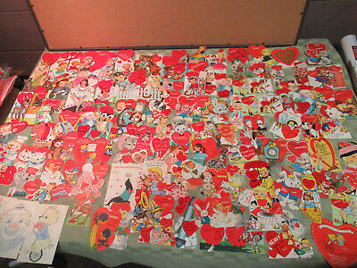 Vintage 1960's Valentine Lot Of About 108 Valentines Cards Free USA Shipping