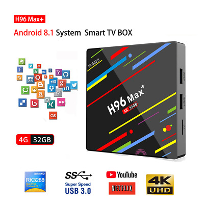 NEW H96 Pro MAX 4G 32GB 64GB Android 8.1 TV Box K18.0 Smart Network Media Player