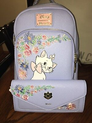 2349d75e801 Disney Loungefly Marie Periwinkle Aristocats Mini Backpack and Wallet NWT