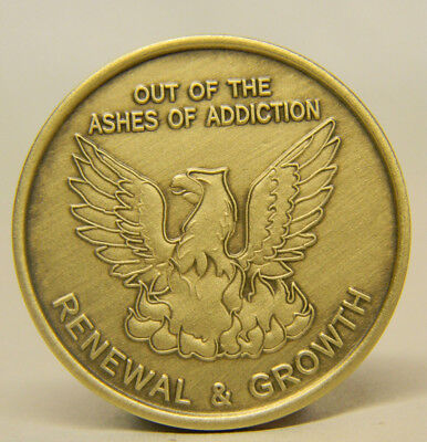 Aa -Na-Recovery Medallion - Chip - Out Of The Ashes Of Addiction - Bronze