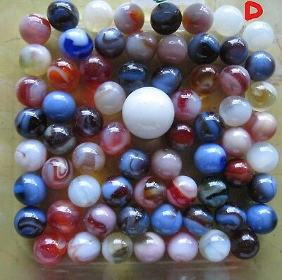Vintage 1 Collectible lot of Marbles Old Glass