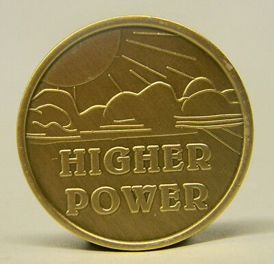 Sobriety Medallion - Bronze - Higher Power  -Recovery Chip