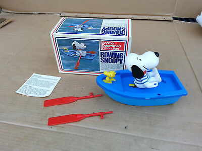 "Rare ""Rowing Snoopy'' NIB  made in Hong Kong 1972 ANOTHER DETERMINED PROD."