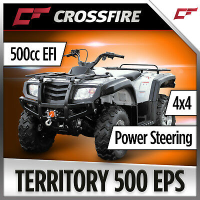 Crossfire 500cc Territory ATV , EFI, Locking Diff, Quad bike, Tow pack Farm Dirt
