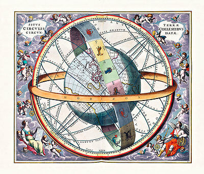 Celestial Harmonia Plate 11 A2+ High Quality Canvas Art Print