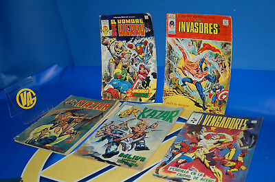 Batch of 5 comics vertex and groove editions KAZAR - THE INVASORES-LOS AVENGERS